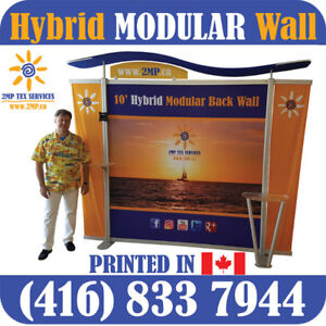 10' or 20' Wide Trade Show Hybrid MODULAR Displays Back Walls