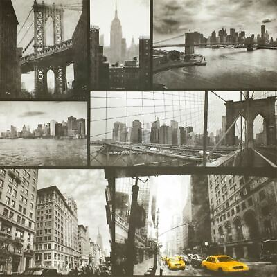 New York City Wallpaper Black White Yellow Taxi Photograph Twin Bridge Liberty
