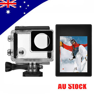 LCD BacPac Display Viewer+Rear Screen Case+Waterproof Case for GoPro Hero 4 3+ 3