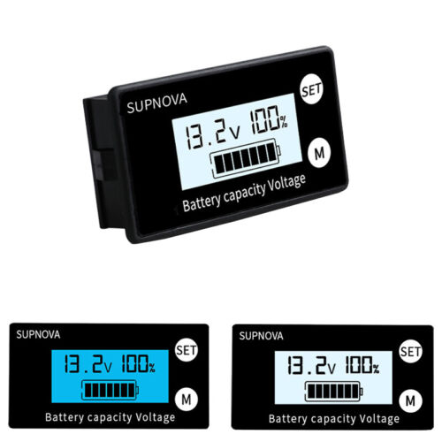 DC 8-100V Lithium Lead-acid Battery Capacity Voltage Tester Meter LCD Mointor