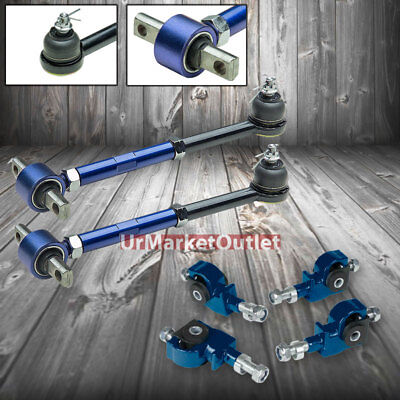 For Honda Accord//Acura TL//CL Adjustable Ball Joint Red Rear+Black Front Camber Kit CB//CD
