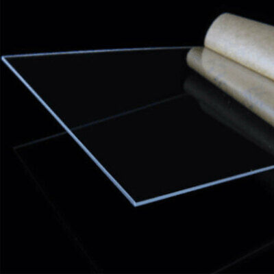 Clear Acrylic Perspex Sheet Cut To Size Plastic Plexiglass Panel Diy 1.5mm Fgh