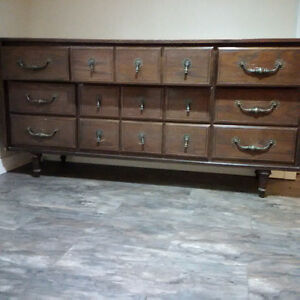 last chance, price reduced - 9 drawer solid wood dresser