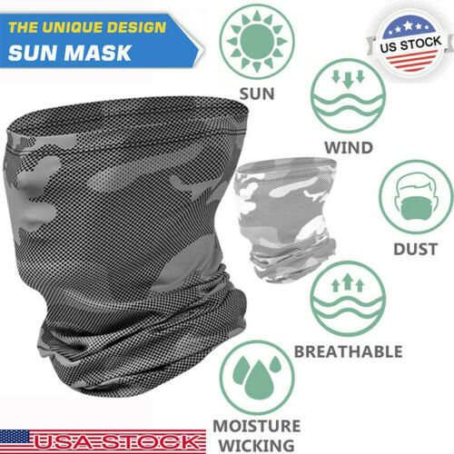 Outdoor Sport Breathable Face Neck Protection Cover Biker Helmet Bandana Scarf