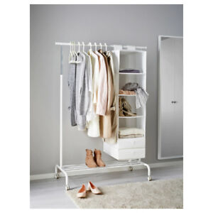 Clothes Rack Wardrobe (IKEA Rigga); Skubb storage solution