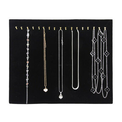 Black Velvet Necklace Chain Jewelry Display Holder-stand Easel Organizer Rack