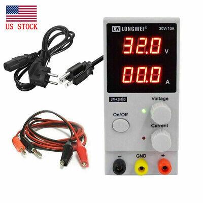 Us Lw3010d Dc 30v 10a Adjustable Battery Charger Power Supply Voltage Regulator