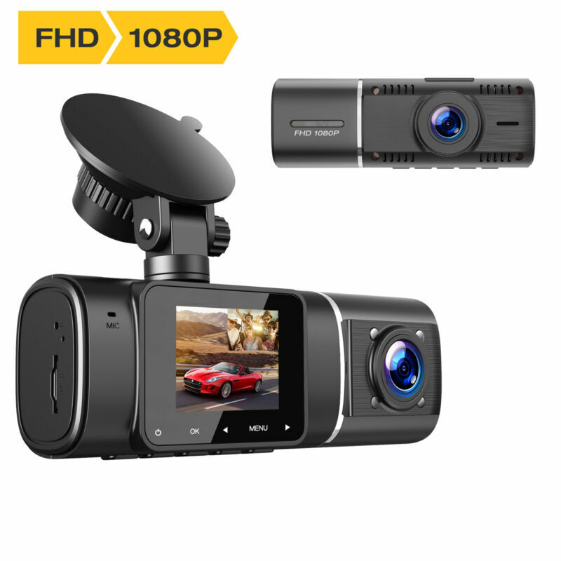 TOGUARD Uber Dual Dash Cam IR Night Vision HD 1080P Car DVR Recorder Camera 310°