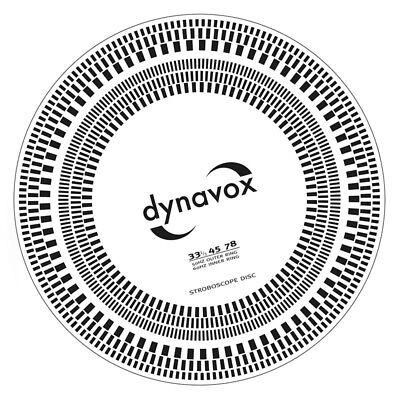 Dynavox Tonabnehmer-Einstelllehre & Stroboskop-Scheibe für Plattenspieler
