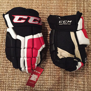 "Gants de Hockey OHL Pro Stock CCM 15"" HG41 BRAND NEW / NEUF"