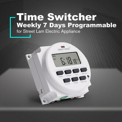 Digital Lcd Power Programmable Relay Timer Time Switch Dc12v 220v Electronic
