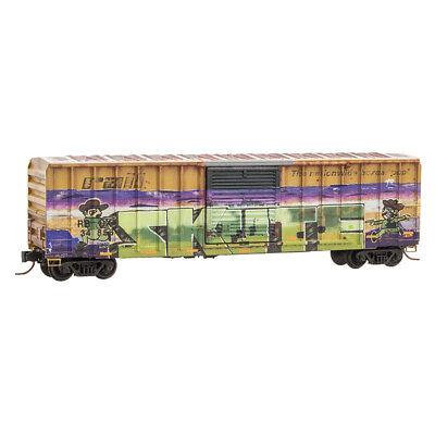 Z Scale - MICRO-TRAINS Line 510 44 014 Weathered RAILBOX 50' Box Car w/Graffiti for sale  Chillicothe