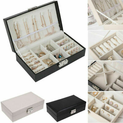 Velvet Jewelry Box Storage Case Ring Earring Ornaments Necklace Case Organizer