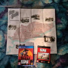 Red dead redemption 2/ PS4/PS5 GAME/complete with map/cash or swap