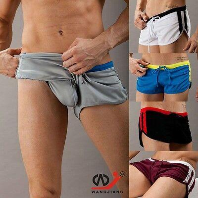 Wangjiang Men swimwear swimming shorts with jock strap boxer Wang Jiang running