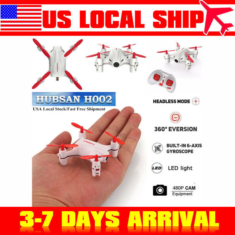 Hubsan H002 Nano RC Mini Pocket Drone 2.4G 4CH Headless 480P LED RTF, USA Stock