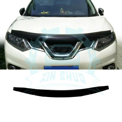 Black Front Bumper Guard Hood Protector Fit For Nissan X-Trail 2014-2018