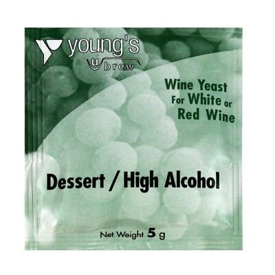 Youngs Dessert & High Alcohol Wine Yeast - 5g - homebrew - beer brewing - wi