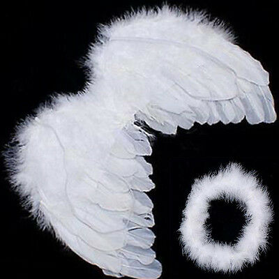 Angel Wings For Babies (Hot Sale Baby Kids White Angel Wings Feather for Party Decoration And for Photo)