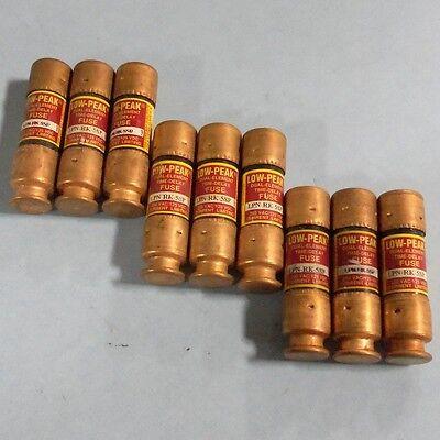 Bussmann 5amp Dual Element Time Delay Fuse Lpn-rk-5sp Lot Of 9 Pzf
