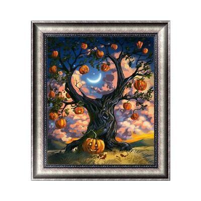 Halloween Tree Decorations Diy (Halloween Tree 5D Diamond Embroidery Painting DIY Cross Stitch Craft Home)