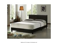 ⚡️⚡️⚡️SPECIAL PROMOTION⚡️⚡️⚡️DOUBLE FAUX LEATHER BED FRAME - AVAILABLE IN BLACK / BROWN