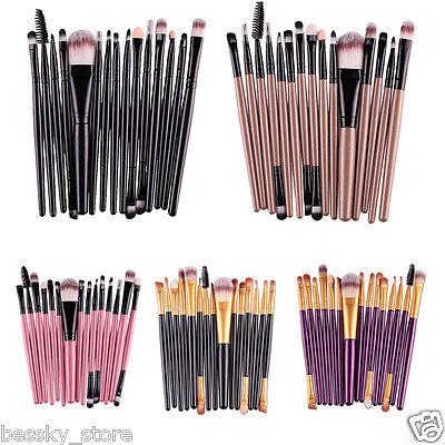 (Pro15 Pcs Eye Shadow Foundation Eyebrow Lip Brush Makeup Brushes Set Tool )