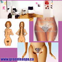 Brazilian wax for woman and other spa services
