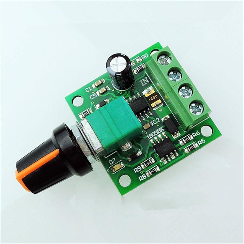 Ultra small dc 1 8v 3v 5v 6v 12v pwm mini motor speed for Small dc motor controller