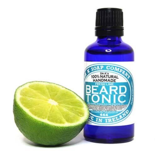 Dr K Soap - Tonico da Barba Fresh Lime 50ml OLIO DA BARBA BEARD TONIC Cura barbe