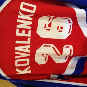 Game worn jersey junior Russian all-star 1987-1990