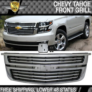 Fits 15-17 Chevy Tahoe LTZ Style Front Upper Factory Grill Grille Chrome
