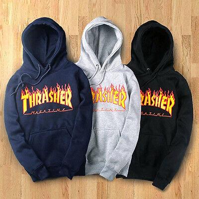 Hot Fashion Women/Men's hoodie sweater Hip-hop skateboard Thrasher Sweatshirts