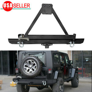 For 87-06 Jeep Wrangler TJ YJ Rock Crawler Rear Bumper W/Tire Carrier & D-ring