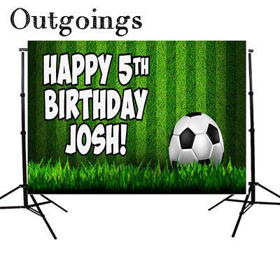Custom Photo Booth Backdrop (Newborn Photography Backdrops Soccer Children Birthday Party -Custom)