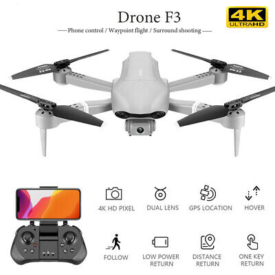 F3 Folding Drone With 4K HD Aerial Photography GPS Dual Smart Positioning Drone