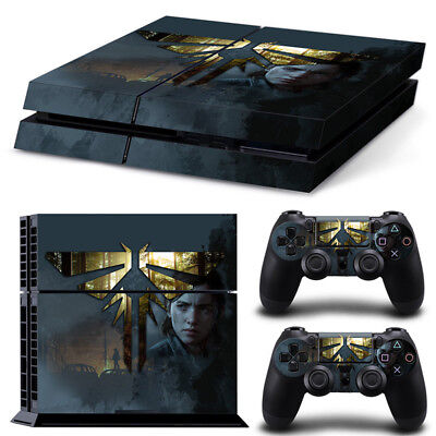 PS4 Playstation 4 Console Skin Decal Sticker Last of US 2 Custom...