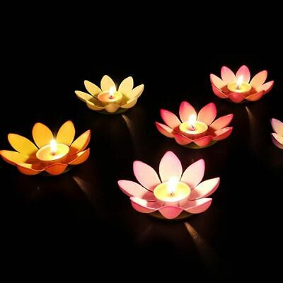Lotus Flower Candle Lights 30Pcs Water Floating Lanterns Romantic Party Decors Floating Flower Lights