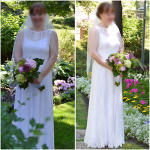 Wedding Gown & Veil from 2016 SIZE 6