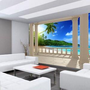 Mural-De-Vellon-034-Terrace-View-Caribbean-Beach-034-MAR-Papel-pintado-Vista-Terraza
