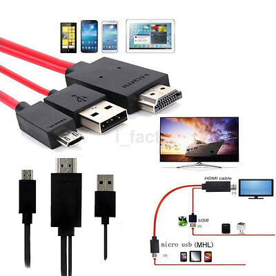 Best MHL Micro USB to HDMI Adapter Cable 1080P HDTV For Universal Android Phone