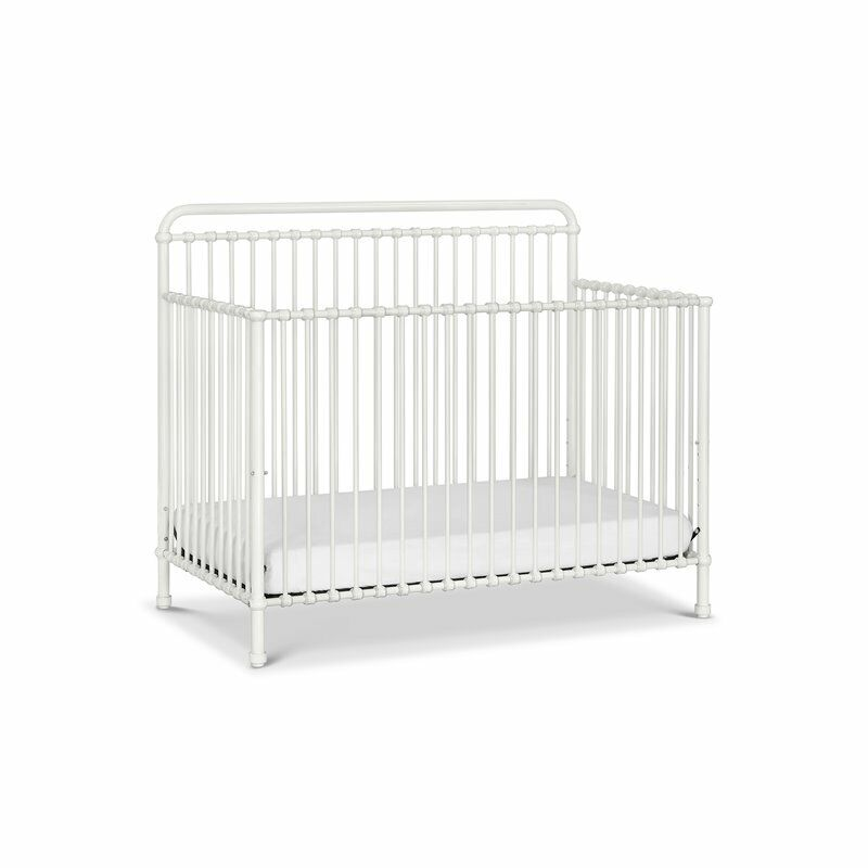 Million Dollar Baby Classic Winston 4-in-1 Convertible Iron Crib in Washed White