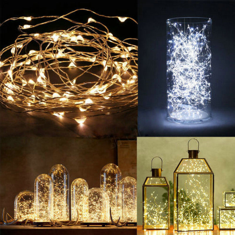 String Copper Wire Fairy Lights Battery Powered Waterproof 20//30//40//50//100 LED