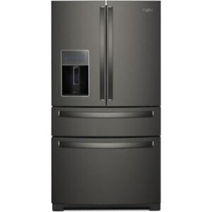 "whirlpool french 4 door  in Black Stainless Steel|Whirlpool WRX986SIHV 36"" Inch French 4-Door Refrigerator(BD-940)"
