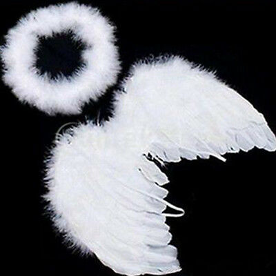 Hot sales Baby Kids White Angel Wings Feather for Party Decoration And for Photo, used for sale  Shipping to Canada