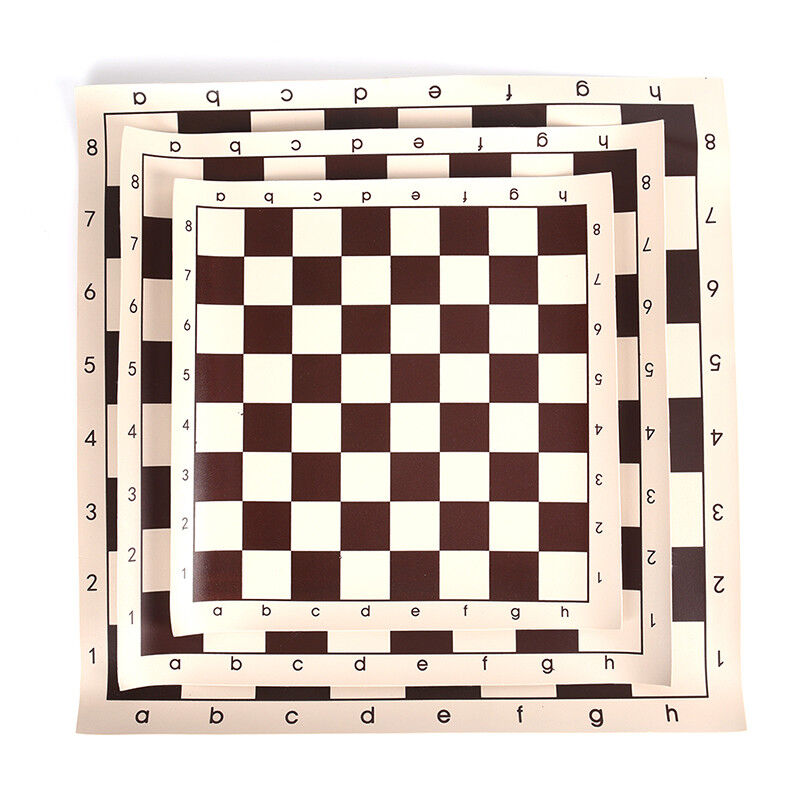 3 Size PU Leather Chess Board For Children's Educational Games Brown and White FO