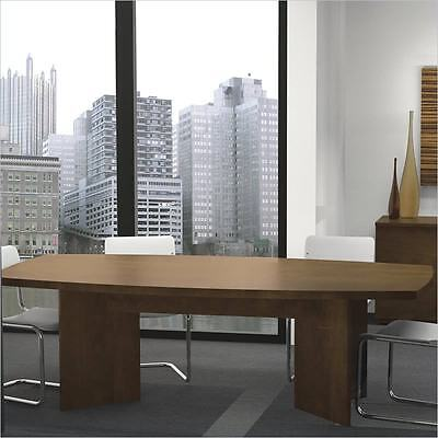 Boat Shaped Light Board Top Conference Table Chocolate Boat Top Conference Table
