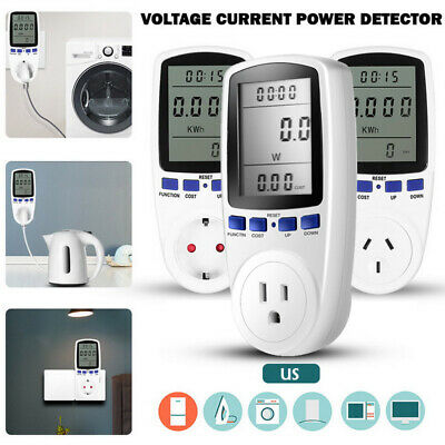 Digital Electricity Power Saving Meter Energy Monitor Watt Amp Volt Kwh Analyzer