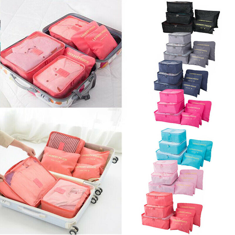 6Pcs/Set Travel Storage Bag for Clothes Luggage Packing Cube