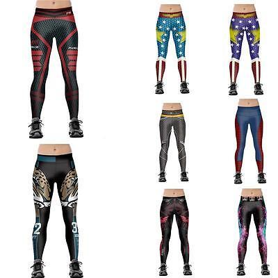 Wonder Woman Cosplay Athletic Running Yoga Gym Sports Plus Size Skinny Leggings